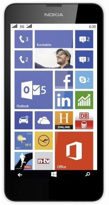 Dual SIM telefón Nokia Lumia 630 (Dual SIM) White + Black zadný kryt