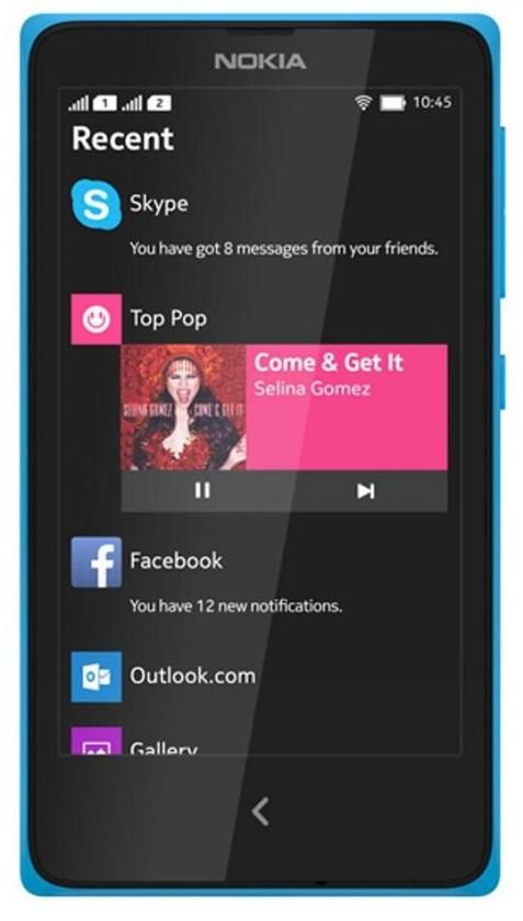 Dual SIM telefón Nokia X Dual SIM Cyan