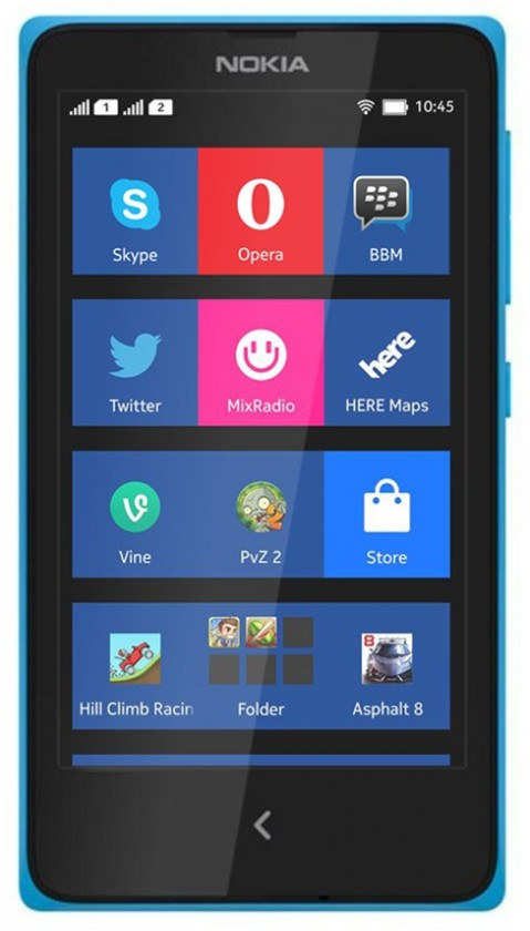 Dual SIM telefón  NOKIA XL DS Cyan