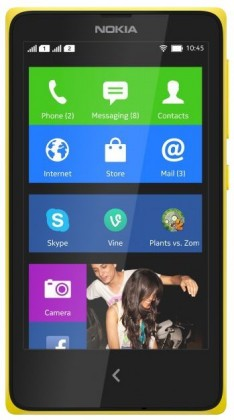 Dual SIM telefón NOKIA XL DS Yellow
