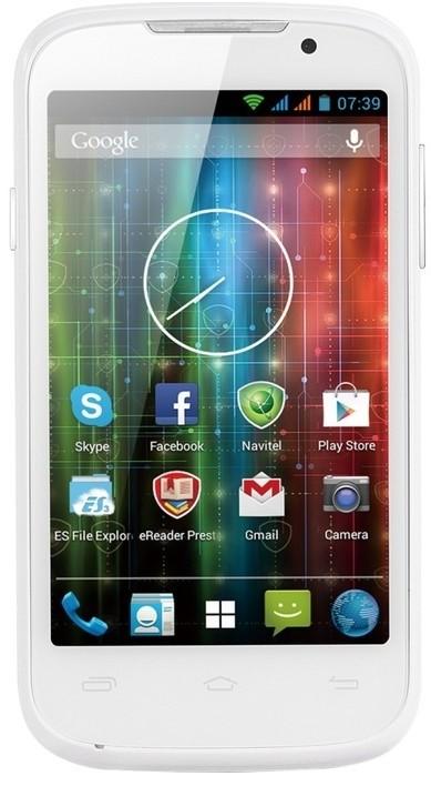 Dual SIM telefón  Prestigio MultiPhone 3400 DUO white
