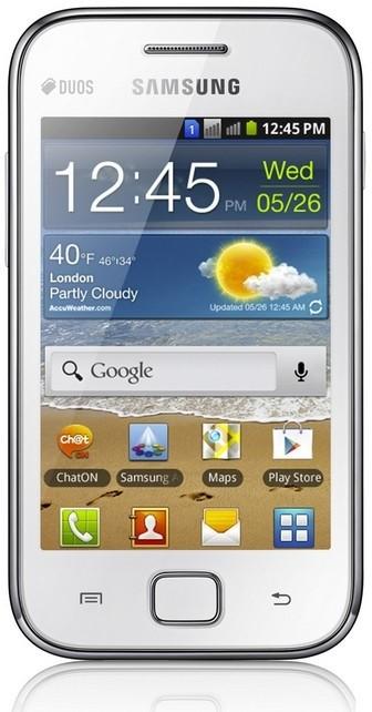 Dual SIM telefón Samsung Galaxy Ace Duos (S6802), biely