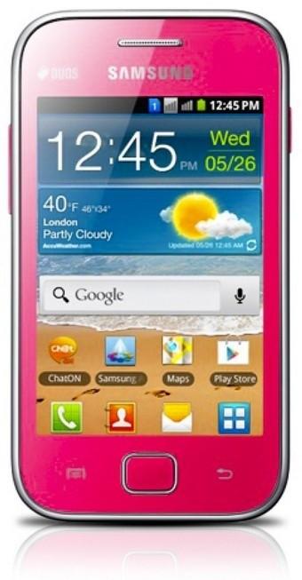 Dual SIM telefón Samsung Galaxy Ace Duos (S6802), růžový ROZBALENO