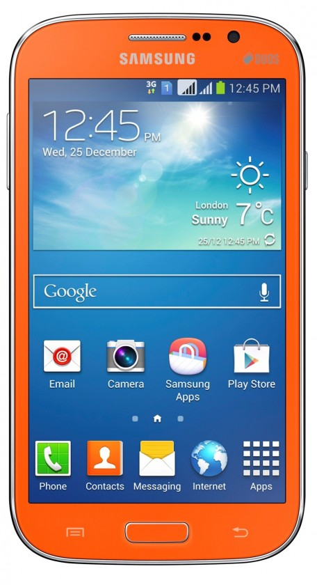 Dual SIM telefón Samsung Galaxy Grand Neo Duos (i9060), oranžový