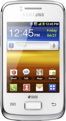 Dual SIM telefón Samsung Galaxy Y Duos Pure (S6102), biely