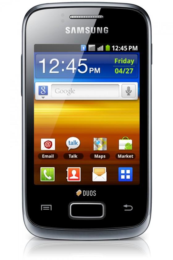 Dual SIM telefón Samsung Galaxy Y Duos (S6102), černý ROZBALENO