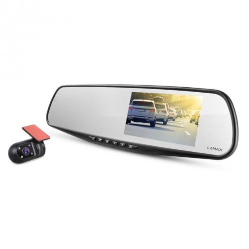 Duálna kamera do auta LAmax S7 FullHD, GPS, 140°