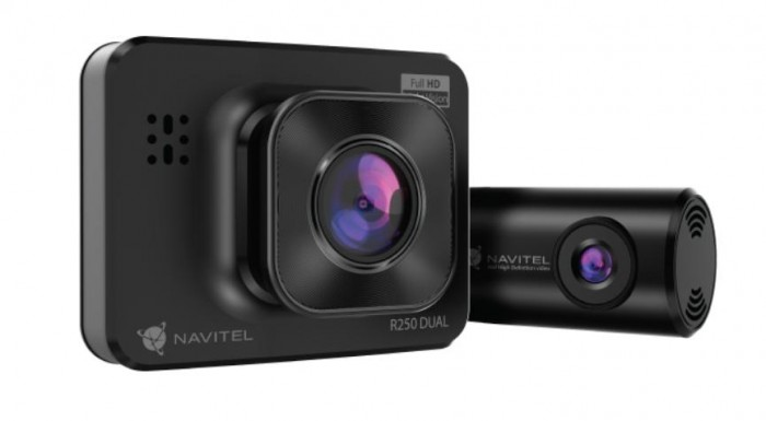 Duálna kamera do auta Navitel R250 DUAL GPS, FullHD, 140°