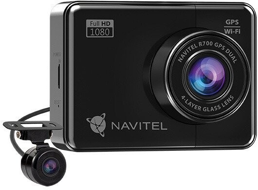 Duálna kamera do auta Navitel R700 FullHD, GPS, WiFi, 170°