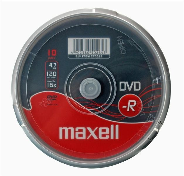 DVD MAXELL DVD-R 4,7GB 16X 10KS