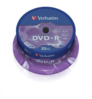 DVD Verbatim DVD+R 16x, 25ks cakebox (43500)