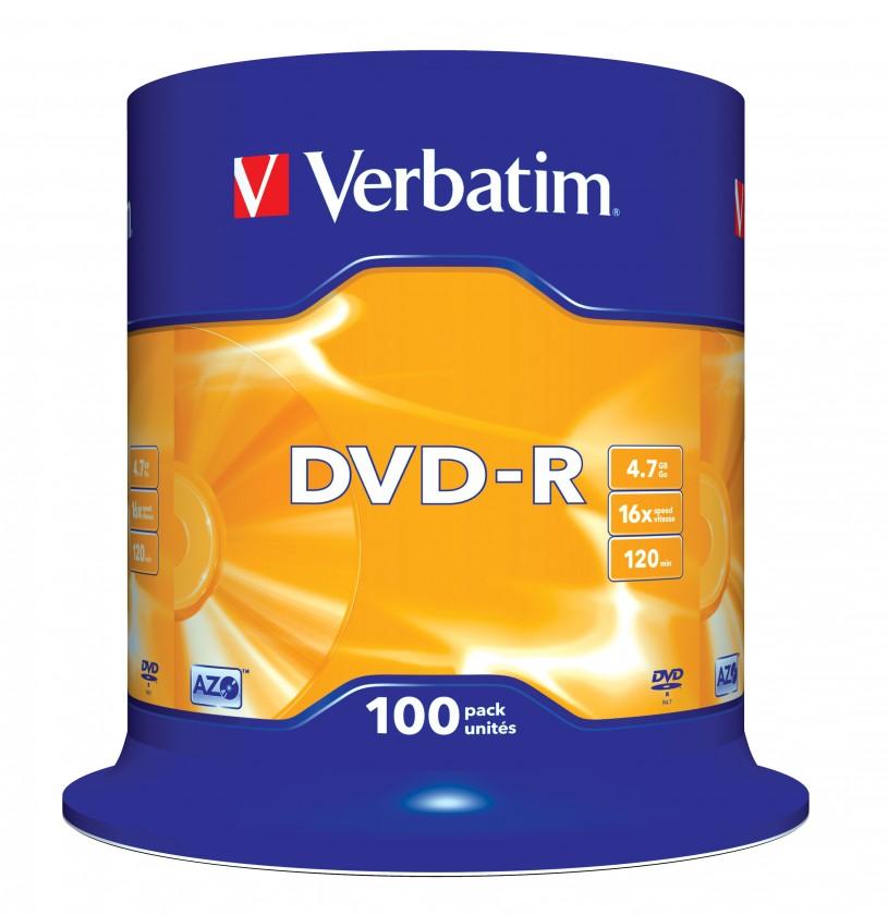 DVD Verbatim DVD-R 4,7GB 16x, 100ks (43549)