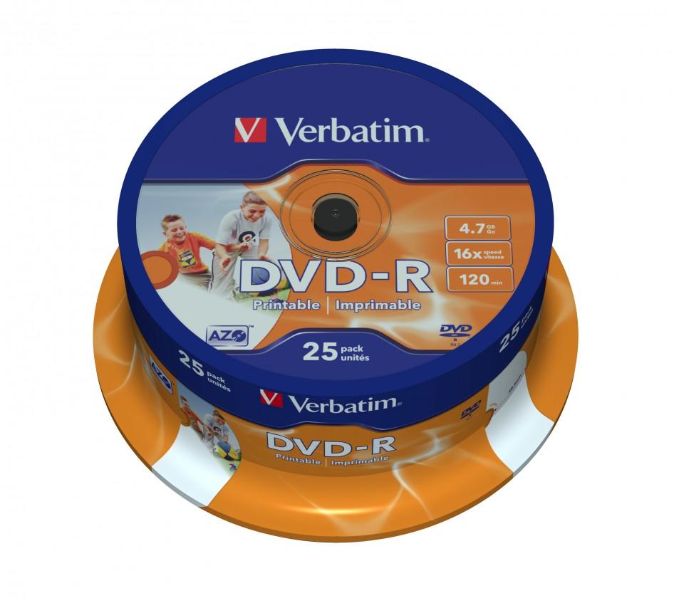 DVD Verbatim DVD-R 4,7GB 16x, 25ks (43538)