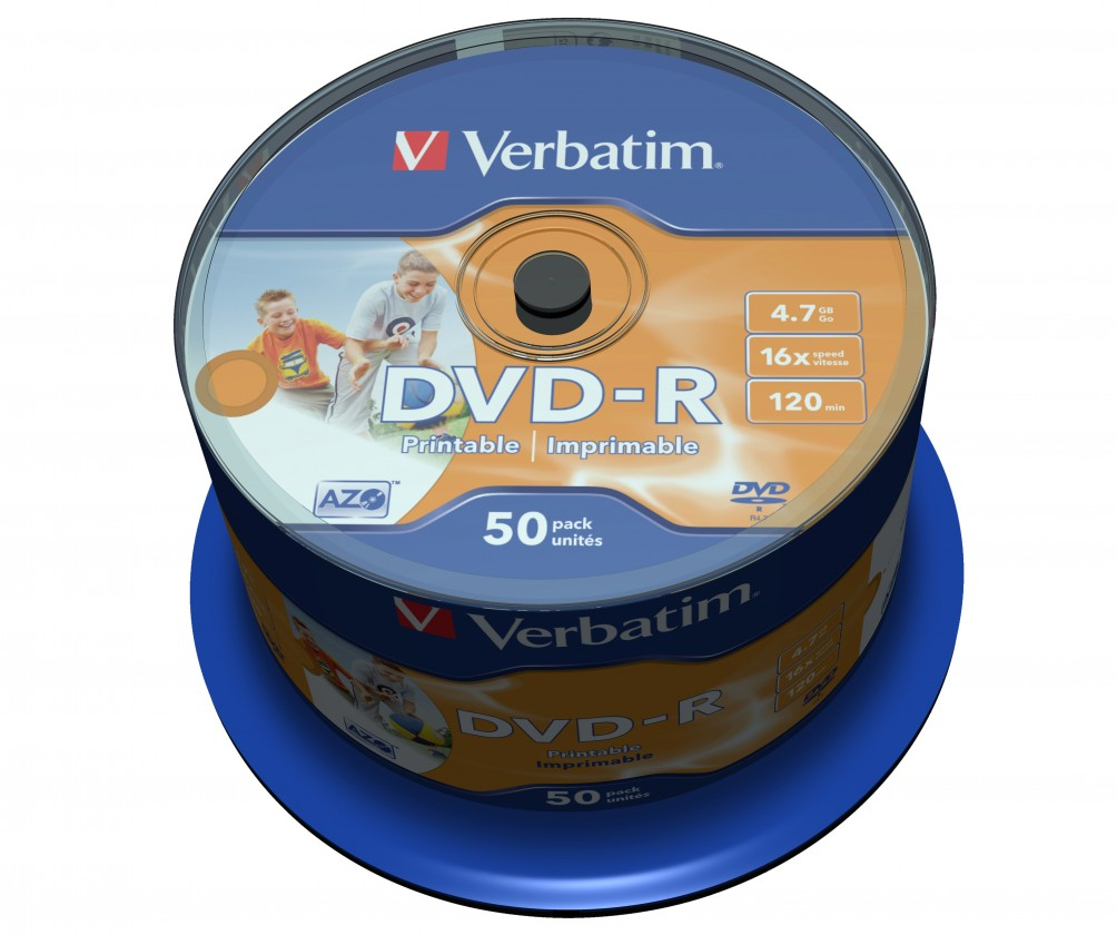 DVD Verbatim DVD-R 4,7GB 16x, 50ks (43533)
