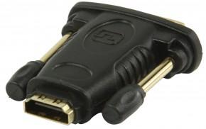 DVI-HDMI adaptér s konektory DVI zástrčka-HDMI vstup,čier