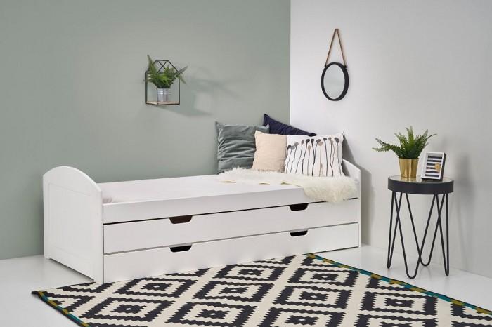 Dvojlôžková posteľ Lexia, ÚP (biela)