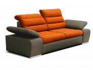 Dvojsedačka Korfu oranžová, hnedá
