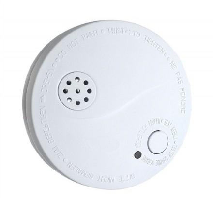 Dymové čidlá SOLIGHT detektor dymu + alarm, 85dB, biely + 9V batéria 1D33