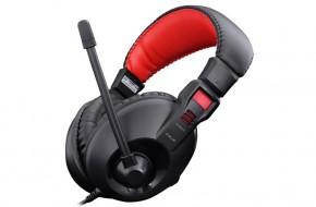 E-Blue Conqueror I., slúchadlá s mikrofónom, čierne, 3.5mm