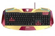 E-Blue klávesnica IRON MAN 3, herná, zlatá, drôtová (USB), US