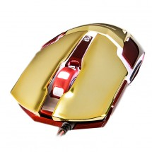E-Blue myš IRON MAN 3 ARMOR, optická, drôtová (USB), zlatá