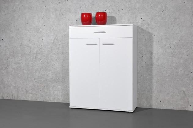 Easy - Botník, 2x dvere, 1x zásuvka (biela)