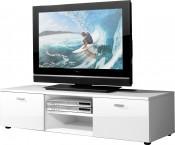 Easy - TV stolík, 3665-84 (biela/biela vysoký lesk)