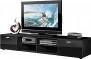 Easy - TV stolík, 3666-83 (čierna/čierna vysoký lesk)
