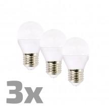 Ecolux WZ4323 LED žiarovky,miniglobe, 6W, E27,3000K,450lm,3ks