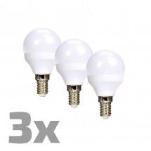 Ecolux WZ4333 LED žiarovky,miniglobe,6W,E14,3000K,450lm,3ks