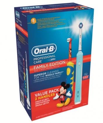 Elektrické kefky Oral-B Family pack PC 500 + D 10 K