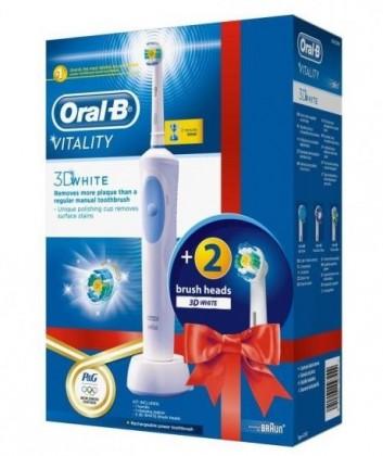 Elektrické kefky Oral-B Vitality 3DWhite + EB 18-2 3D White Luxe