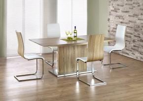 Elias - Jedálenský stôl 180x90 cm (dub sonoma, strieborná)