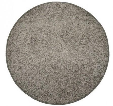 Elite Shaggy - koberec, 200x200 (100%PP shaggy, guľatý, sivá)