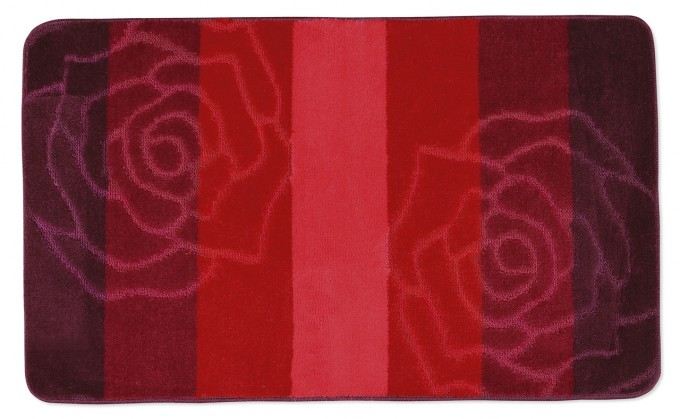 Elli - Kúpeľňová predložka 60x100 (červená ruže)