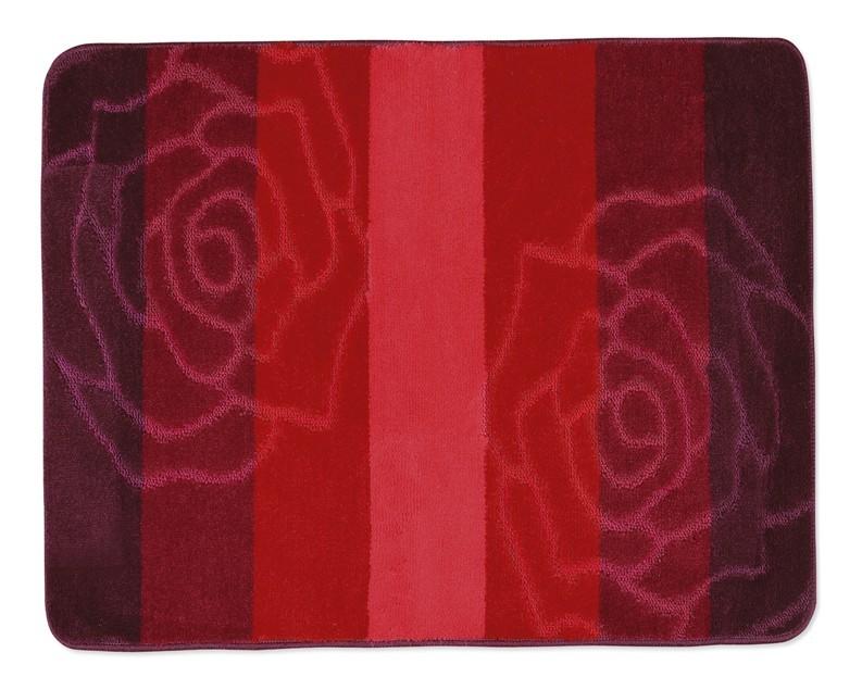 Elli - Kúpeľňová predložka 60x50 (červená ruže)