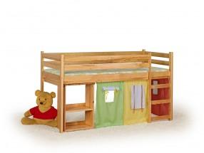 Emi - detská poschodová posteľ vrátane matraca (borovica)