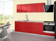 Emilia - Kuchynský blok A, 200/260 (červená, travertín svetlý)