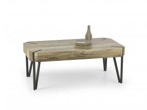 Emily - konferenčný stolík dub, černý (dub žíhaný/čierná)