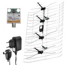 EMOS EM-030 TV anténa 0-100 km aktívna vonkajšie