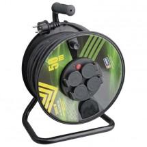 Emos P084501, gumový predlžovací kábel na bubne, 4 zásuvky 50m PO