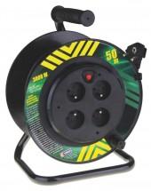 Emos P19450P, PVC predlž. kábel na bubne, 4 zás. 50m pevný stred