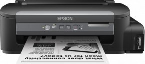 EPSON tiskárna ink WorkForce M105, CIS, A4,37ppm,ČB1ink,USB,Wi-Fi