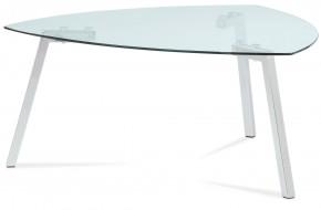 Erika - Konferenčný stolík sklenený (sklo, chróm)