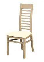 Eryka - jedálenská stolička (drevo - dub sonoma / poťah - látka)