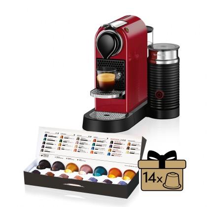 Espresso na kapsule Kapsuľový kávovar KRUPS Citiz &Milk XN761510 červený