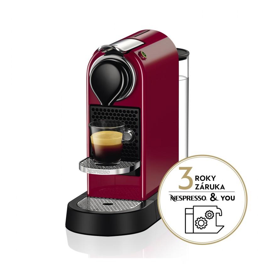 Espresso na kapsule Kapsuľový kávovar KRUPS Citiz XN741510  červený