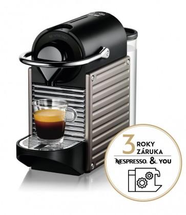 Espresso na kapsule Kapsuľový kávovar KRUPS Pixie XN304T10 titanový