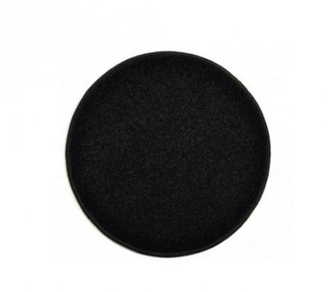 Eton - koberec, 100x100cm (100%PP, guľatý, čierna)