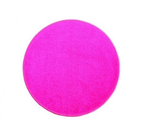 Eton - koberec, 100x100cm (100%PP, guľatý, ružová)
